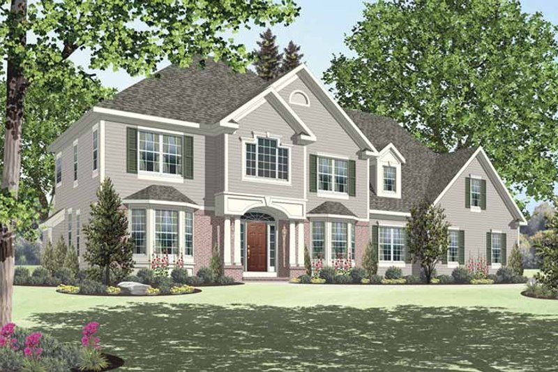 Dream House Plan - Traditional Exterior - Front Elevation Plan #328-453