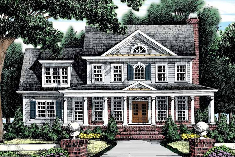 Classical Exterior - Front Elevation Plan #927-865 - Houseplans.com