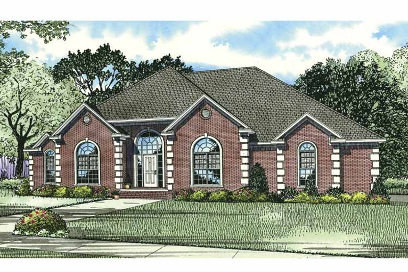 Traditional Exterior - Front Elevation Plan #17-2794 - Houseplans.com
