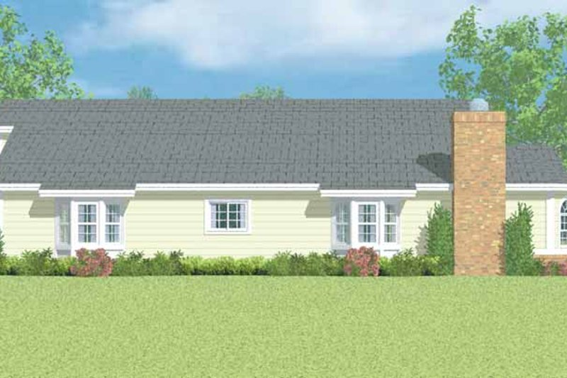 Ranch Exterior - Other Elevation Plan #72-1099 - Houseplans.com