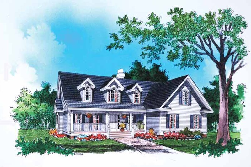 Country Exterior - Front Elevation Plan #929-237
