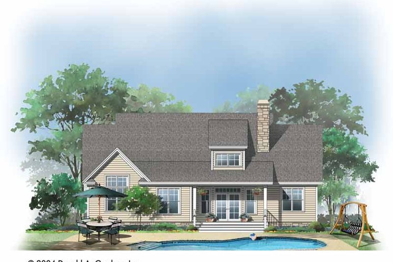 Craftsman Exterior - Rear Elevation Plan #929-721 - Houseplans.com