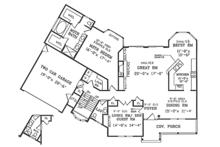 Country Floor Plan - Main Floor Plan Plan #314-286
