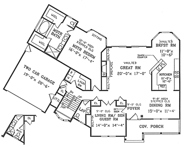 Country Floor Plan - Main Floor Plan Plan #314-286