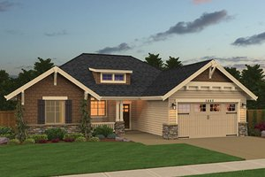 Craftsman Exterior - Front Elevation Plan #943-48