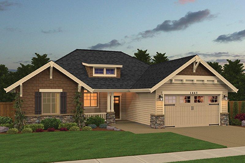 Architectural House Design - Craftsman Exterior - Front Elevation Plan #943-48