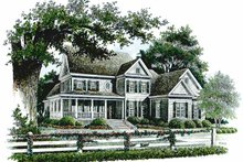 Home Plan Design - Country Exterior - Front Elevation Plan #429-309