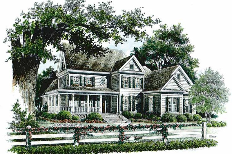 Country Exterior - Front Elevation Plan #429-309