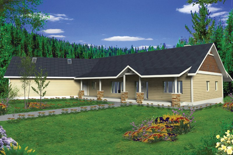 Home Plan - Ranch Exterior - Front Elevation Plan #117-848