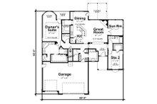 Traditional house plan, floor plan
