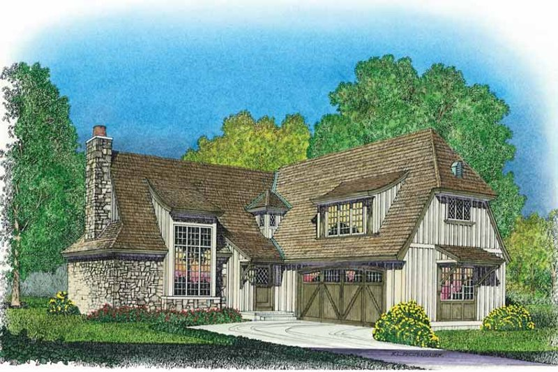 Country Exterior - Front Elevation Plan #1016-80 - Houseplans.com