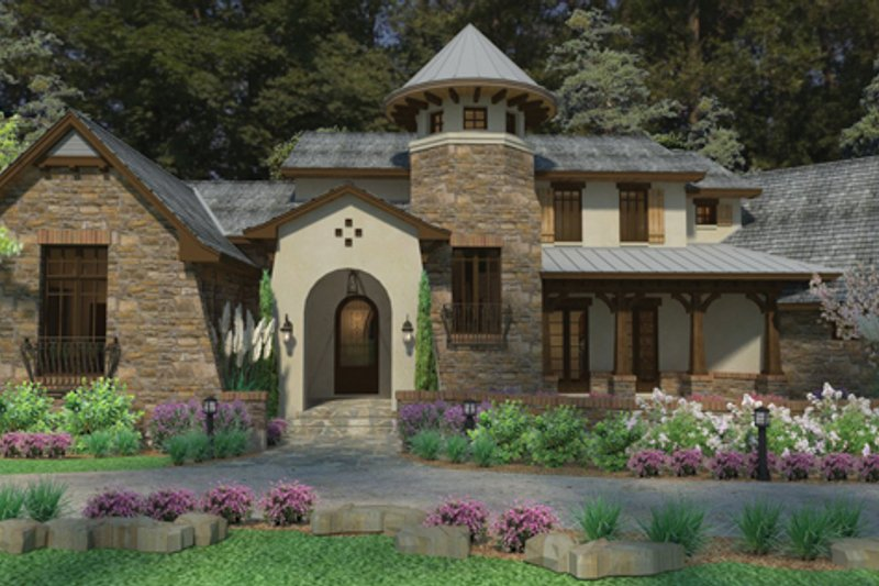 Cottage Style House Plan - 3 Beds 4 Baths 3927 Sq/Ft Plan #120-244 Exterior - Front Elevation