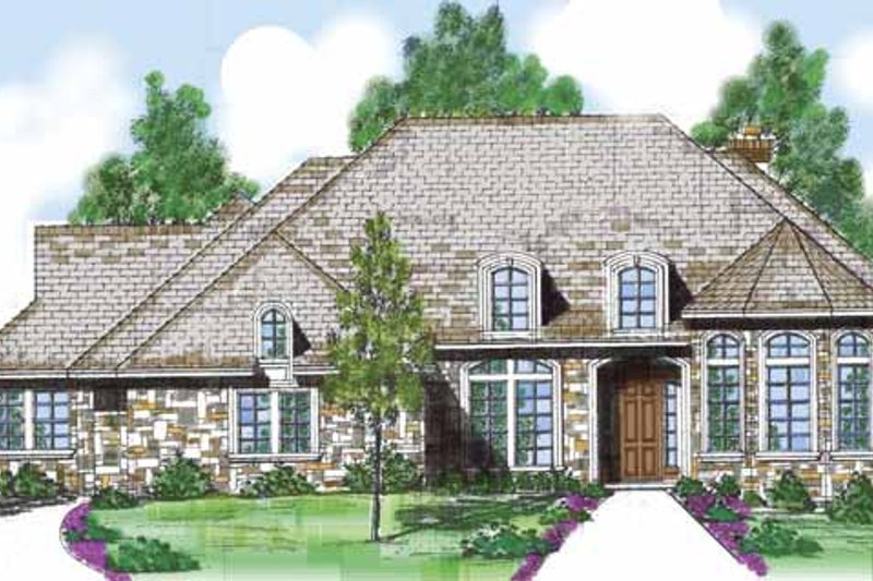 Traditional Exterior - Front Elevation Plan #52-243 - Houseplans.com