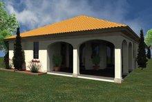 House Plan Design - Mediterranean Exterior - Rear Elevation Plan #930-429
