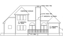 House Design - European Exterior - Rear Elevation Plan #56-144