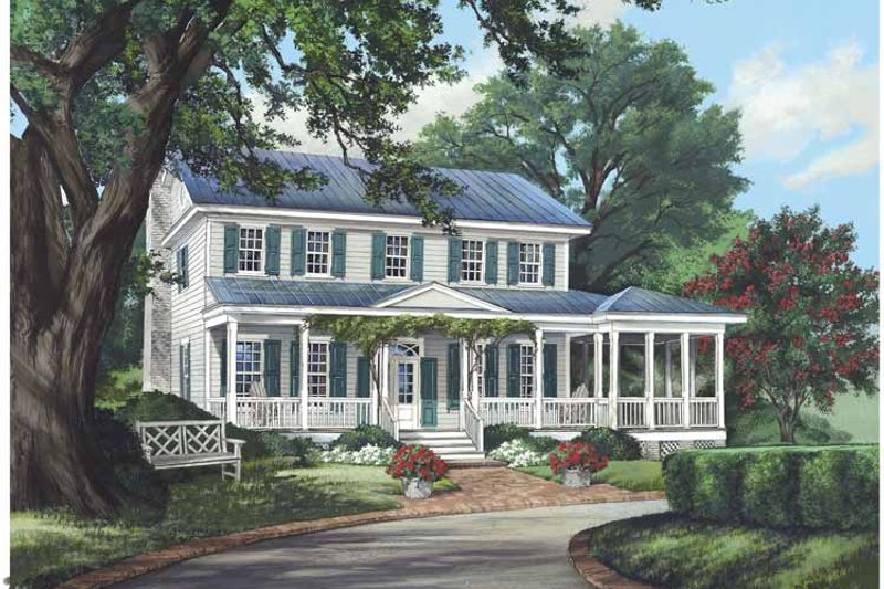 Architectural House Design - Country Exterior - Front Elevation Plan #137-333