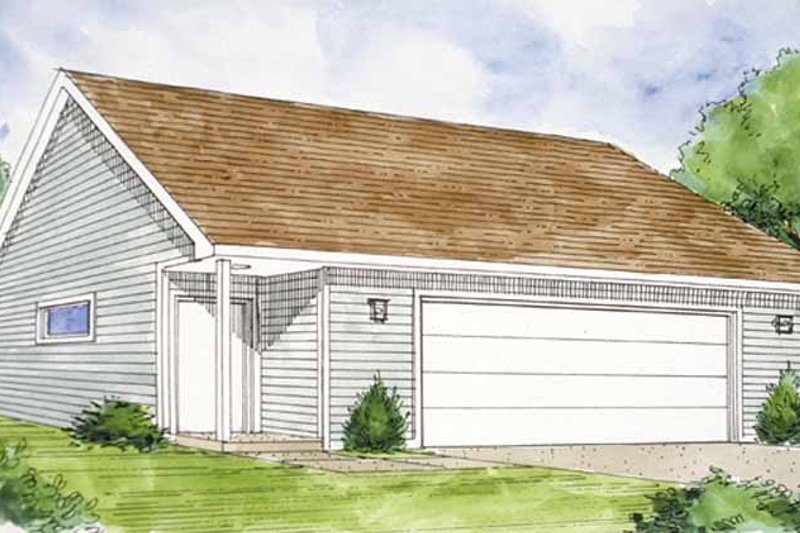 Exterior - Front Elevation Plan #410-3598