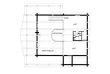 Log Floor Plan - Upper Floor Plan Plan #117-826