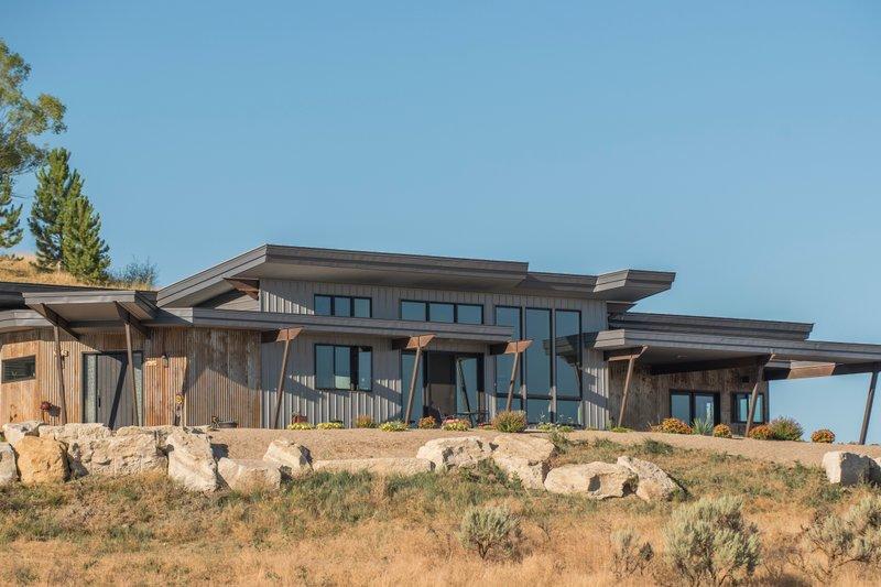 House Plan Design - Modern Exterior - Rear Elevation Plan #451-17