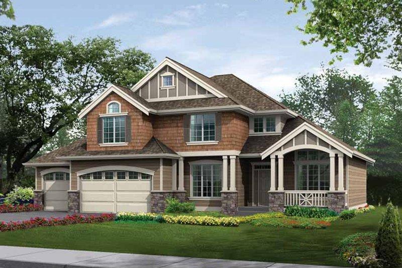 Craftsman Exterior - Front Elevation Plan #132-256
