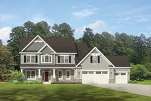 Architectural House Design - Traditional Exterior - Front Elevation Plan #1010-132