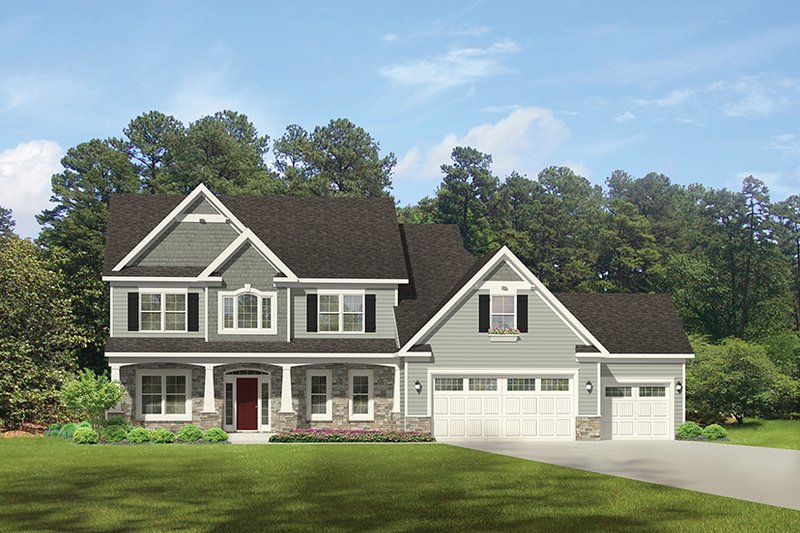 Traditional Exterior - Front Elevation Plan #1010-132 - Houseplans.com