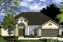 House Plan Design - Mediterranean Exterior - Front Elevation Plan #417-832