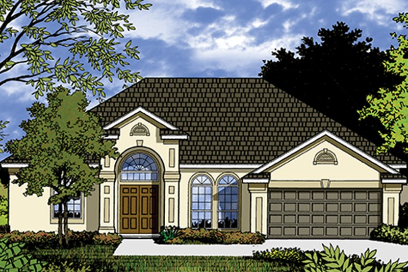 Mediterranean Exterior - Front Elevation Plan #417-832