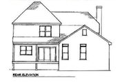 European Style House Plan - 3 Beds 2.5 Baths 1759 Sq/Ft Plan #41-128 Exterior - Rear Elevation