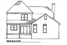 Architectural House Design - European Exterior - Rear Elevation Plan #41-128