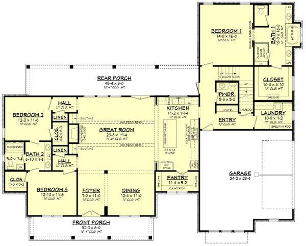 Dream House Plan - Farmhouse Floor Plan - Main Floor Plan #430-251
