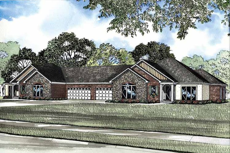 Architectural House Design - Ranch Exterior - Front Elevation Plan #17-2937
