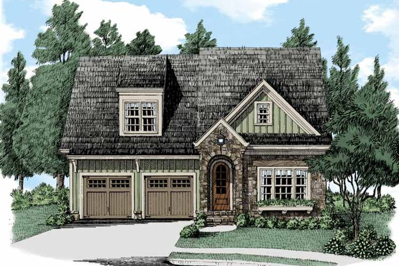 Bungalow Exterior - Front Elevation Plan #927-504 - Houseplans.com