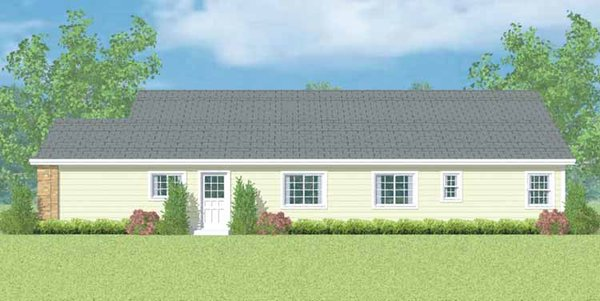 Ranch Floor Plan - Other Floor Plan Plan #72-1099