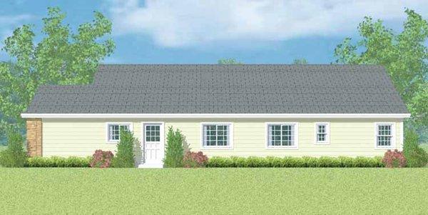 Ranch Floor Plan - Other Floor Plan Plan #72-1099