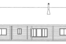 Cabin Exterior - Front Elevation Plan #117-857