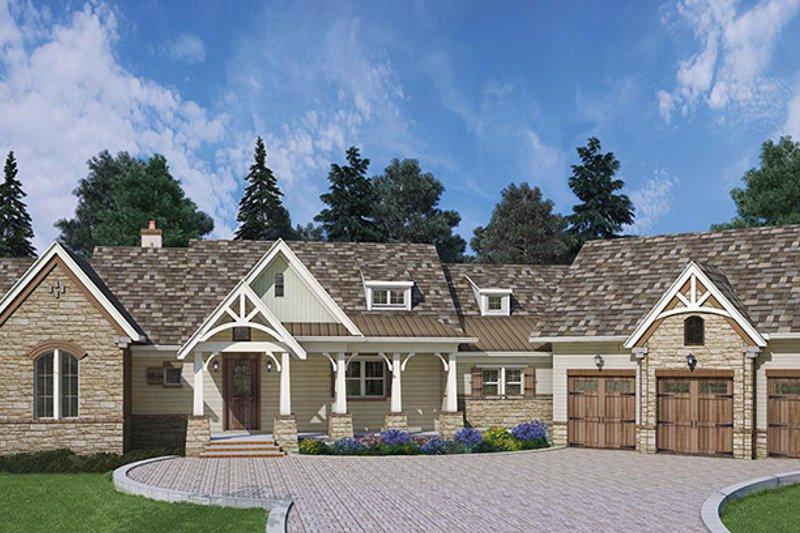 Craftsman Exterior - Front Elevation Plan #119-426 - Houseplans.com