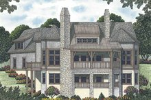 House Plan Design - Craftsman Exterior - Rear Elevation Plan #453-577