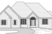 European Style House Plan - 4 Beds 2.5 Baths 3573 Sq/Ft Plan #51-481 Exterior - Other Elevation