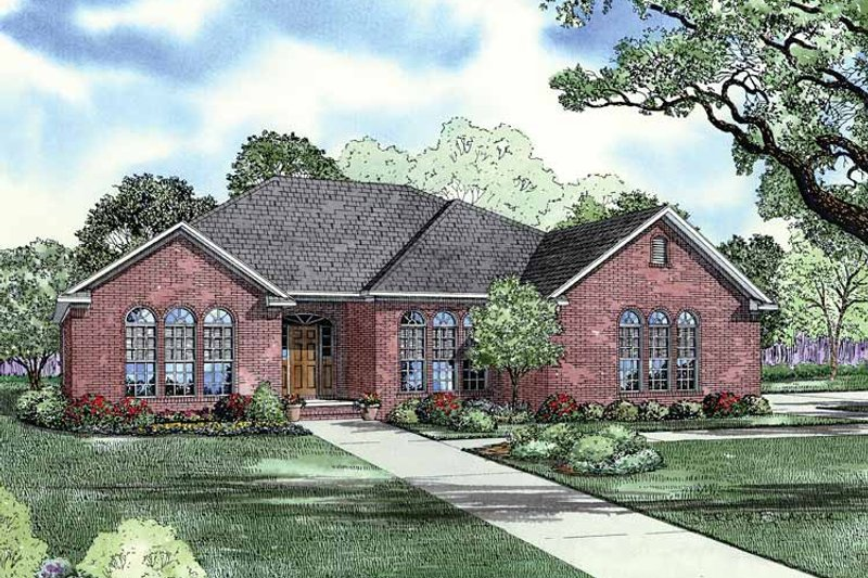 Dream House Plan - Traditional Exterior - Front Elevation Plan #17-2805