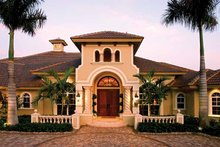 Mediterranean Exterior - Front Elevation Plan #1017-2