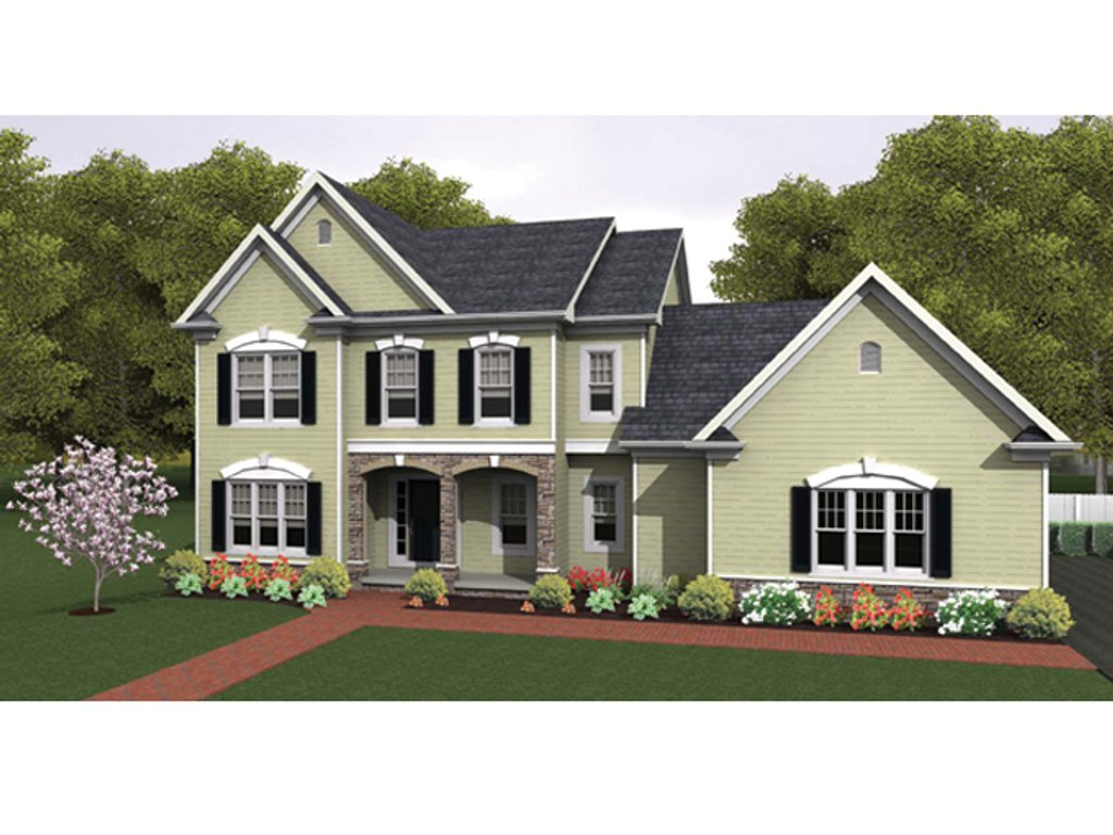Colonial style house plan 4 beds 2 5 baths 2484 sq ft plan 1010 36 dreamhomesource com