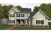 Colonial Exterior - Front Elevation Plan #1010-36