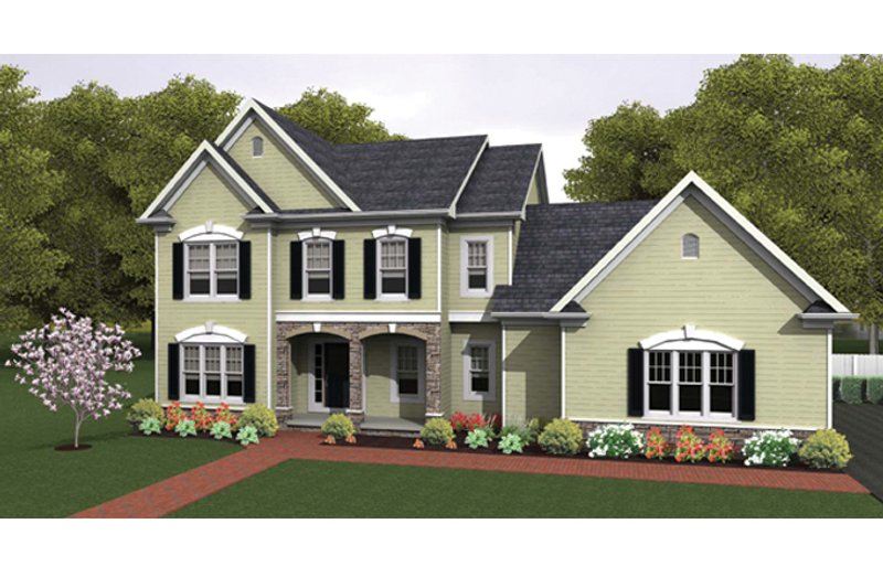 Colonial Exterior - Front Elevation Plan #1010-36 - Houseplans.com