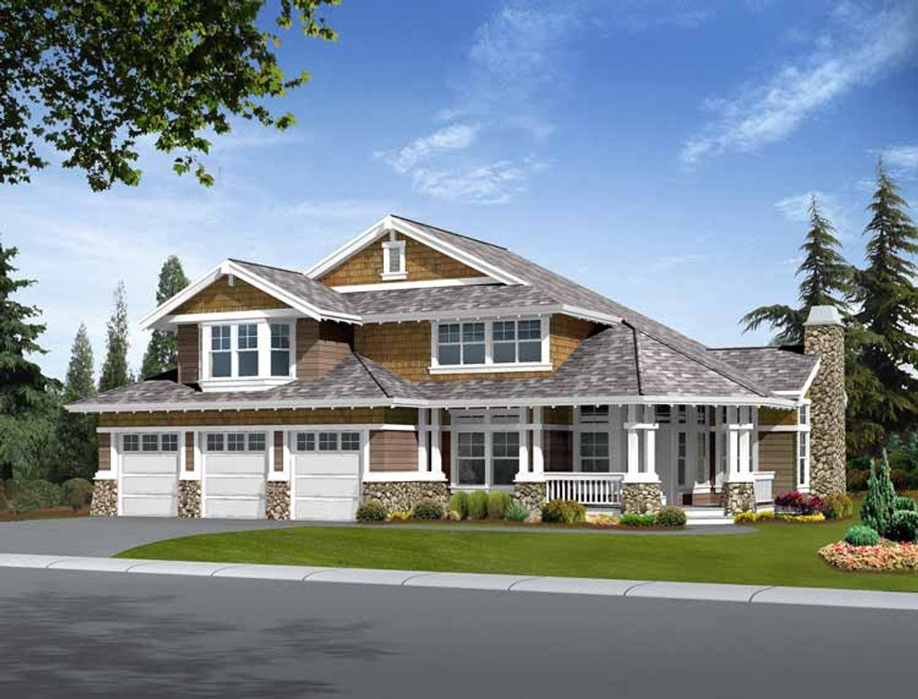Craftsman style house plan 4 beds 2 5 baths 3225 sq ft for Craftsman vs mission style