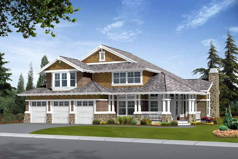 Craftsman Exterior - Front Elevation Plan #132-408 - Houseplans.com