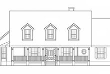 Country Exterior - Front Elevation Plan #472-246