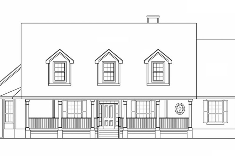 Country Exterior - Front Elevation Plan #472-246 - Houseplans.com