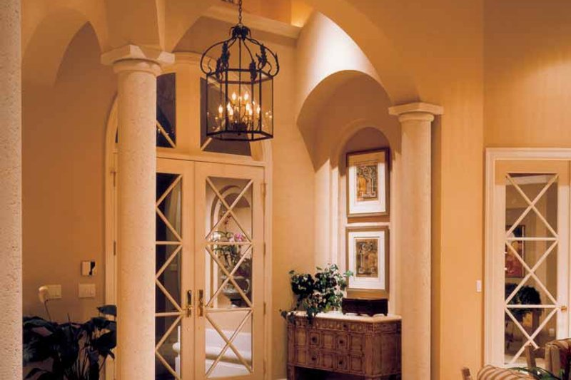 Mediterranean Interior - Entry Plan #930-110 - Houseplans.com