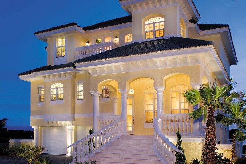 Dream House Plan - Mediterranean Exterior - Front Elevation Plan #930-16
